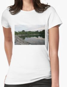 Summer Morning Tranquility - Lake Ontario in Toronto Womens Fitted T-Shirt