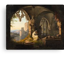 Georg Osterwald, The Father's Grave Canvas Print
