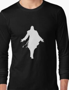 Assassin's Creed ezio silhouette white Long Sleeve T-Shirt