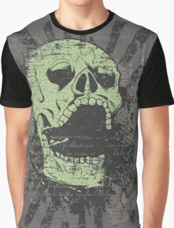 Warrior Skull Graphic T-Shirt