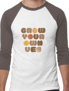 Grow your own veg Men's Baseball ¾ T-Shirt