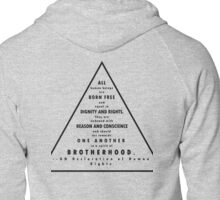 UN Declaration of Human Rights Zipped Hoodie