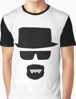 Black Hat with Cool Man Graphic T-Shirt