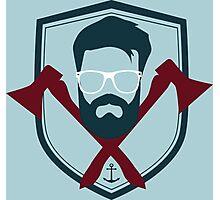 Hippy Emblem Photographic Print