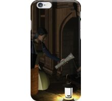 Lottie at fireplace iPhone Case/Skin