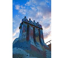 Sunset Colored Chimneys - Impressions Of Barcelona Photographic Print