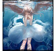 Aqua Girl Photographic Print