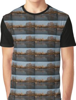 Gray and Amber - an Early Winter Morning on the Lake Shore Graphic T-Shirt