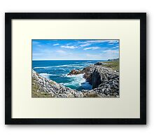 Hiking next to the cliffs Framed Print