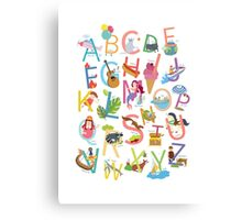 Alphabet poster Canvas Print