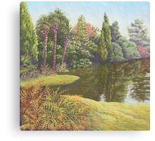 Sheffield Park Gardens, East Sussex in Pastel Canvas Print