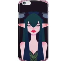 girl demon with horns , krogovom ethnic patterns and ornaments iPhone Case/Skin