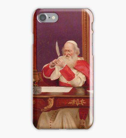 Georges Croegaert  SHARPENING THE QUILL iPhone Case/Skin