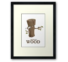 Funny Morning Wood Framed Print