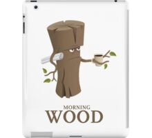 Funny Morning Wood iPad Case/Skin