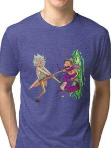 Tiny Rick and Morty  Tri-blend T-Shirt