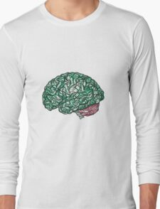 Brain Storming and tangled thoughts - Green Long Sleeve T-Shirt