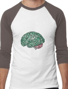 Brain Storming and tangled thoughts - Green Men's Baseball ¾ T-Shirt