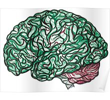 Brain Storming and tangled thoughts - Green Poster