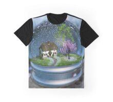 Cherry Blossom Globe Graphic T-Shirt