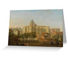 Giacomo van Lint ROME, A VIEW OF THE APSE OF SAINT PETER'S, WITH AN ARTIST SKETCHING IN THE FOREGROUND Greeting Card