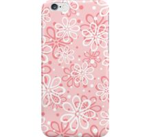 Cute pink floral pattern iPhone Case/Skin