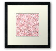 Cute pink floral pattern Framed Print