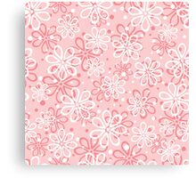 Cute pink floral pattern Canvas Print