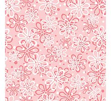 Cute pink floral pattern Photographic Print