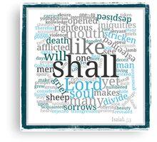 Isaiah 53 Religious Christian Typography Art Canvas Print