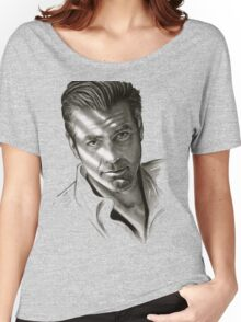 G. Clooney in black and white Women's Relaxed Fit T-Shirt
