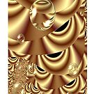Golden Bubble Highway (iPhone Case) by judygal
