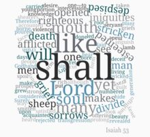 Isaiah 53 Religious Christian Typography Art One Piece - Short Sleeve