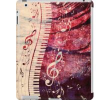 Piano Keyboard with Music Notes Grunge iPad Case/Skin