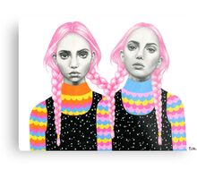 Plaited Twins Metal Print