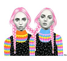 Plaited Twins Photographic Print