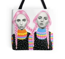 Plaited Twins Tote Bag
