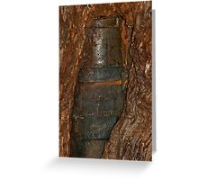 0406 Ned Kelly Armour buried in old tree trunk Greeting Card