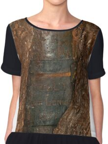 0406 Ned Kelly Armour buried in old tree trunk Chiffon Top