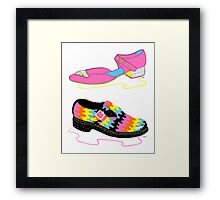 Trippy Shoes Framed Print
