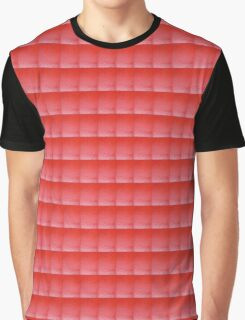 Textured Red Graphic T-Shirt