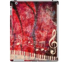 Piano Keyboard with Music Notes Grunge 2 iPad Case/Skin