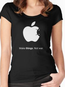 Android Apple - Make things. Not War. Women's Fitted Scoop T-Shirt