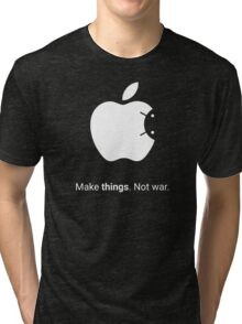Android Apple - Make things. Not War. Tri-blend T-Shirt