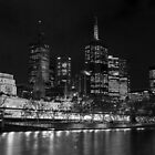 0353 Melbourne by Night by DavidsArt