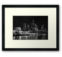 0353 Melbourne by Night Framed Print