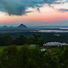 Glasshouse Mountains, Sunshine Coast, Qld, Australia. by Ralph de Zilva