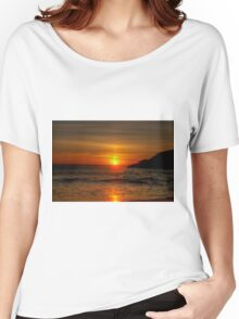 0573 Sunset at Squeaky Beach Women's Relaxed Fit T-Shirt