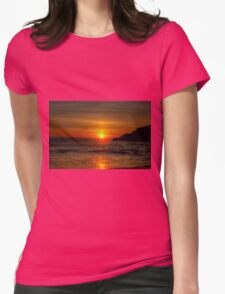0573 Sunset at Squeaky Beach Womens Fitted T-Shirt