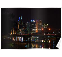 Melbourne at night 12 [r] Poster